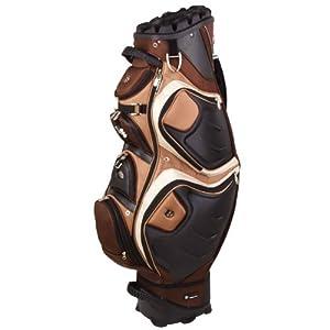 Quiet Organizer 12 Slot Golf Bag w Full Length Dividers in Mocha from Bennington Golf