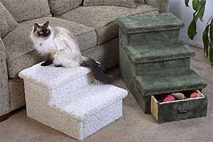 2 or 3 Level Pet Step with Optional Drawer : Color SPECKLED SAND : Size 2 STEP - WITH DRAWER by CD Pets