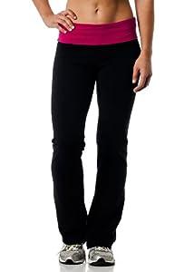 Alki'i Women's Cotton Lycra Fold over Yoga Pant
