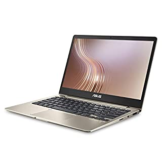 ASUS ZenBook 13 UX331UA Ultra-Slim Laptop 13.3in Full HD WideView Display i7-8550U Processor, 8GB LPDDR3, 256GB SSD, Windows 10, Backlit Icicle Gold (Renewed)