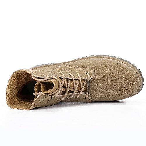 Zapatillas De Deporte De Cordones Para Exteriores Con Cordones Para Hombre Zapatillas De Trabajo Militares Botas De Desierto Tácticas Militares Beige