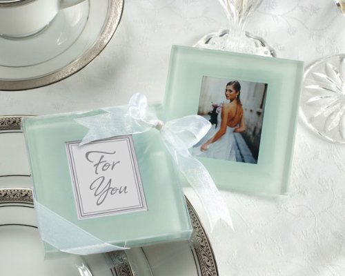 Frosted Coasters Photo Glass (Forever Photo Frosted Glass Coasters - Baby Shower Gifts & Wedding Favors (Set of 24))