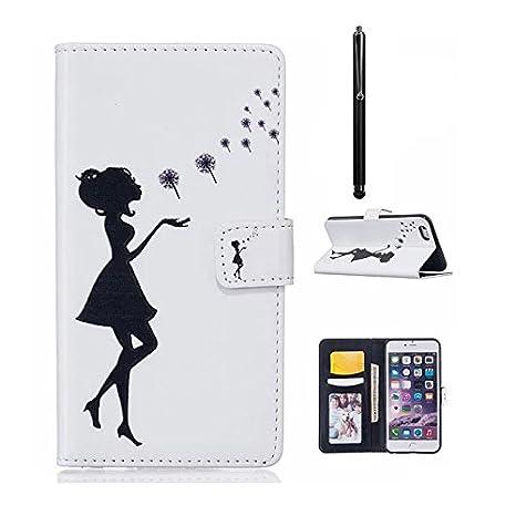 MUTOUREN PU Cuero Funda con Tapa Libro para Samsung Galaxy S7, Funda Protectora Bumper Carcasa Piel ...