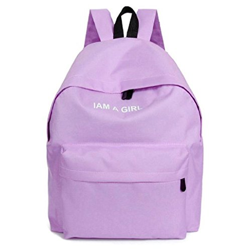 Shoulder Fashion Bag Backpack Vovotrade® Purple Rucksack Canvas Girls Pink School YqdwTPx
