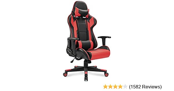 amazon com homall gaming chair racing style high back faux leather