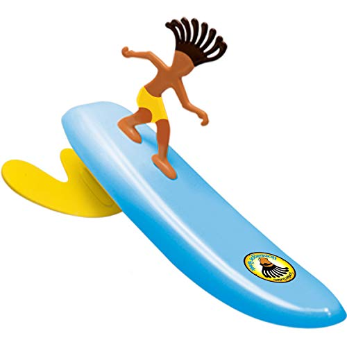 - Surfer Dudes Wave Powered Mini-Surfer and Surfboard Toy - Blue Hossegor Hank (2019/2020 Edition)
