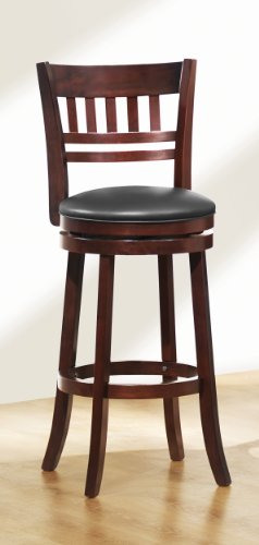 41dI6atoicL - Homelegance-1140E-29S-Swivel-Pub-Height-ChairStool-Dark-Cherry