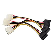 Cable Matters 3-Pack 4 Pin Molex to SATA Power Cable (SATA to Molex) - 6 Inches