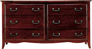 Modus Furniture Santa Barbara 6 Drawer Dresser Sable