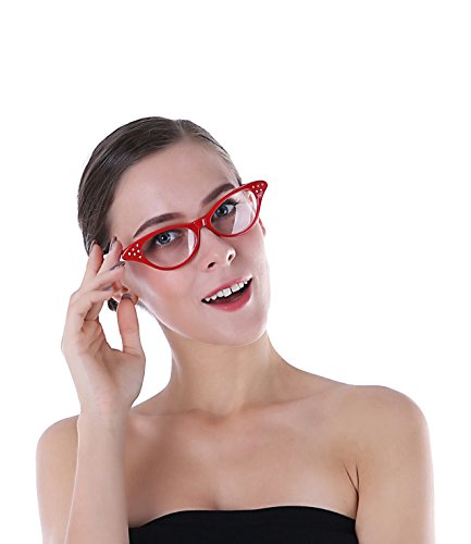 Cat Eye Glasses Red and 50s Glasses for
