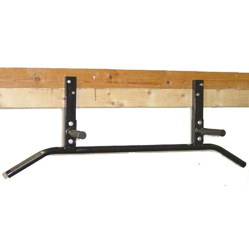 Ceiling Mount Chin Up Bar - Joist Mounted Pull Up Bar with Neutral Grip Handles by MS Sports
