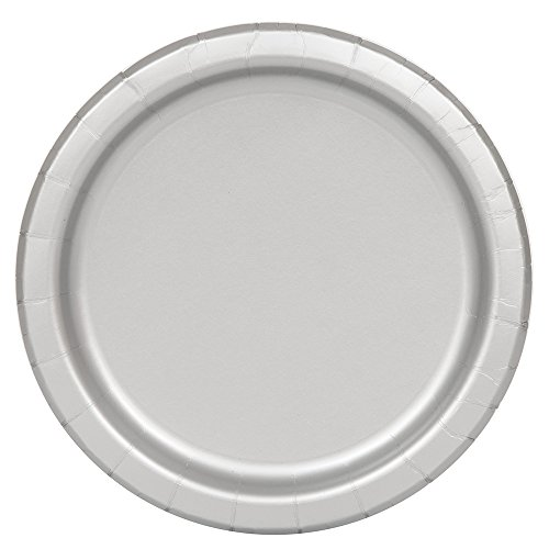 Silver Paper Plates, 16ct -
