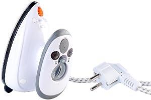 Sichler Haushaltsgeräte Reise-Dampfbügeleisen für Reise & Urlaub, 230 V & 120 V