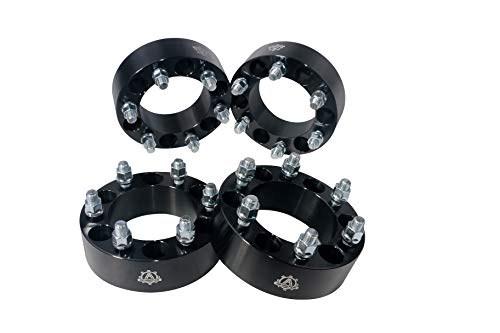Wheel Spacer Set of 4-6 Lug 2 inches 50mm Hub and Wheel Centric Adapter 6x5.5 - Fits 99-12 Chevy Silverado, GMC Sierra, 02-06 Chevy Avalanche, 1995-2012 Chevy Tahoe, Suburban and more - 6x139.7mm ()