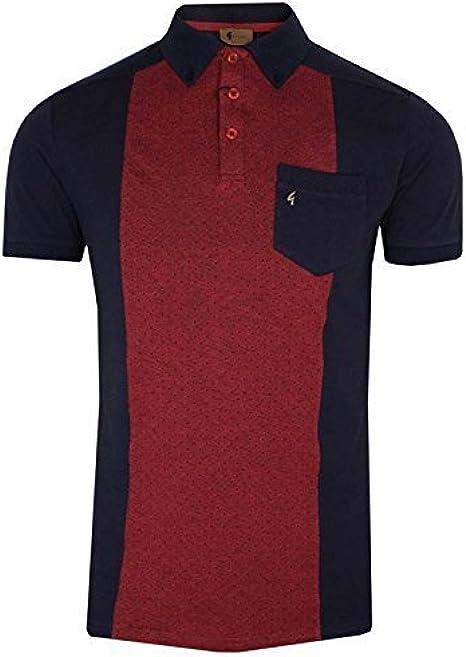Gabicci Vintage Polo Camiseta para Hombre Azul Marino Puerto Retro ...