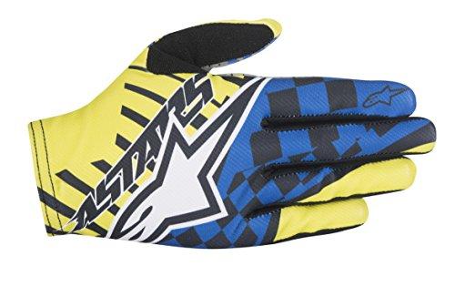 Alpinestars Men's F-Lite Speedster Gloves, Acid Yellow/Royal Blue, X-Large