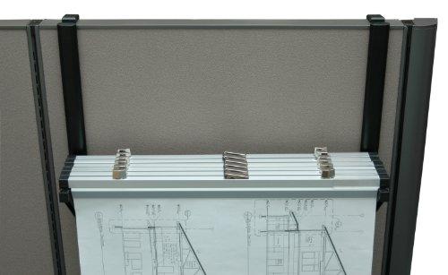 Adir Corp. Cubicle Rack for Blueprints, Plans, Posters - Black