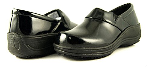 Slip Blue 7 Black Black Leather On Waitress Laforst 7003 Resistant Womens Server Clog Rachel Slip TIxqpAU