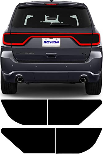 REVION Autoworks 2014-2019 Dodge Durango Tail Light Tint Kit | Precut Dark Black Smoke Vinyl Overlays for 14-19 Dodge Durango Taillight | Tinted Dry Application Film