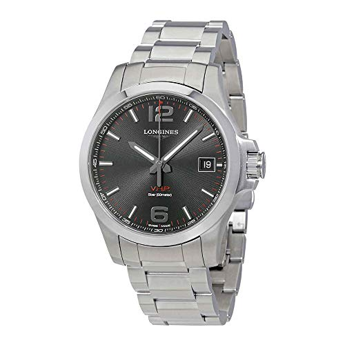 Longines Conquest V.H.P. Black Dial Mens Stainless Steel Watch L37164566