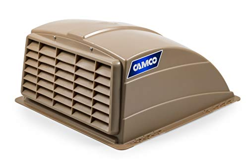 (Camco Standard Roof Vent Cover, Opens for Easy Cleaning, Aerodynamic Design, Easily Mounts to RV with Included Hardware-Champagne)