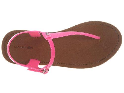 Lacoste Dames Luzerne Fluro Blauw Mode Sandalen Fluro Roze