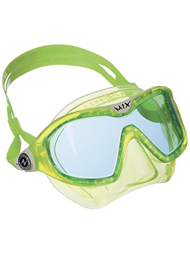 Aqua Lung Sport Mix Junior Reef Toddler Swim & Snorkeling mask Lime (Blue Lens)