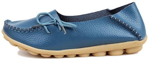 Blue Basso Flats A Donna Collo Fangstoloafer Light wTgOS