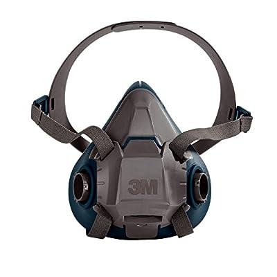 3M Rugged Comfort Half Facepiece Reusable Respirator 6501/49487, Small