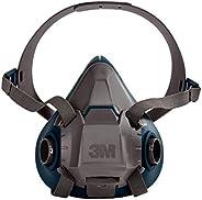 3M 6503 Gray/Teal Rugged Comfort Half Facepiece Reusable Respirator, Large