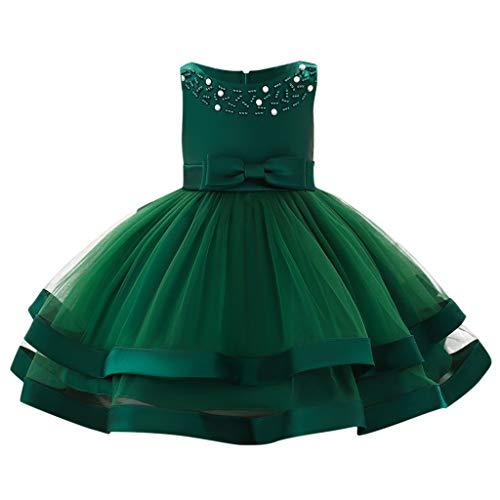 Ringer Fish T-shirt Kids (Sunhusing Baby Sleeveless O-Neck Pearl Decor Bow High Waist Double-Tulle Gown Princess Tutu Dress)