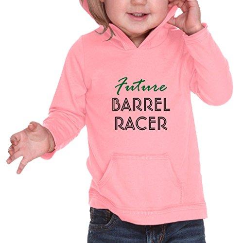 Future Barrel Racer Sport 60/40 Cotton/Polyester Long Sleeve Hooded Neck Unisex Infant Hoodie Sweatshirt RawEdge - Flamingo, 12 (Barrel Sweatshirt)