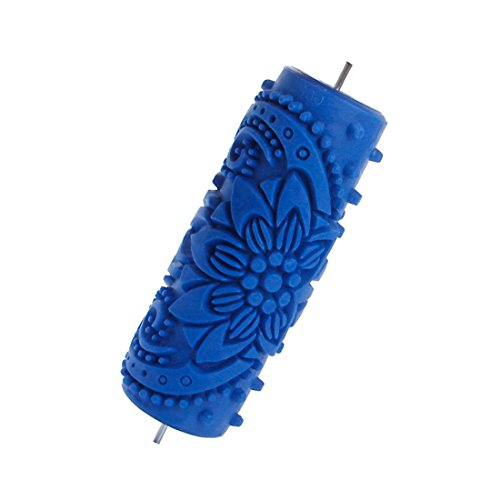 TOOGOO(R) 15cm Flower Knurled Relief Paint Roller Wallpaper Tool for DIY Wall Shaping