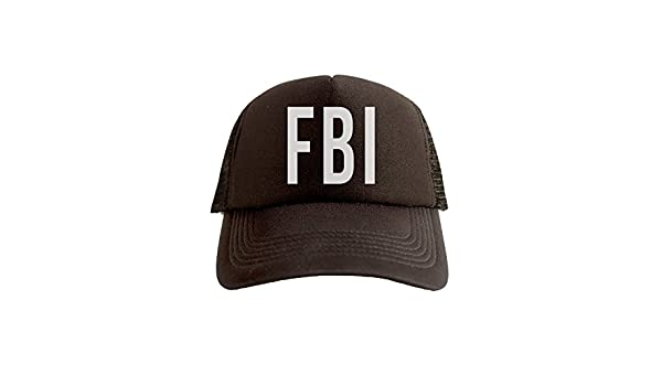 29cd00ff Amazon.com: FBI Cool Swag Hip Hop Print Trucker Hat Cap Black: Clothing