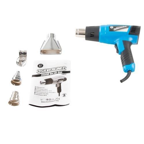 Silverline 127655 - 2000W DIY Variable Heat Gun 230V