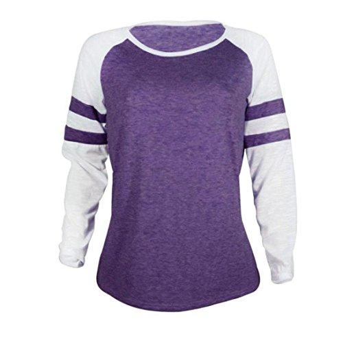 63beeb45a3e561 ... Sweatshirt Top T-shirt Lange Lila Ärmel Langarm Bluse Damen Xinan  Pullover Hemd Hoodie ...