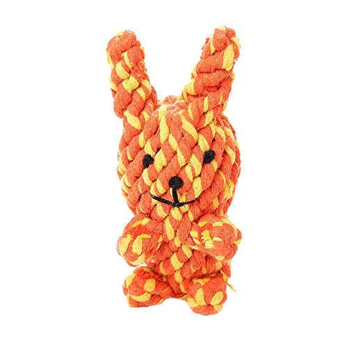 - LtrottedJ Molar Cleaning Teeth Cotton Rope Bites Venting Toy Dog Supplies Training Toys (Orange)