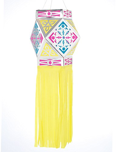 Akash Kandil, Ashtkone Style Paper Lantern Yellow (Free 2 Day Priority Shipping on all colors)