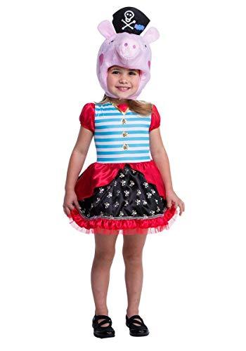Peppa Pig Pirate Costume, -