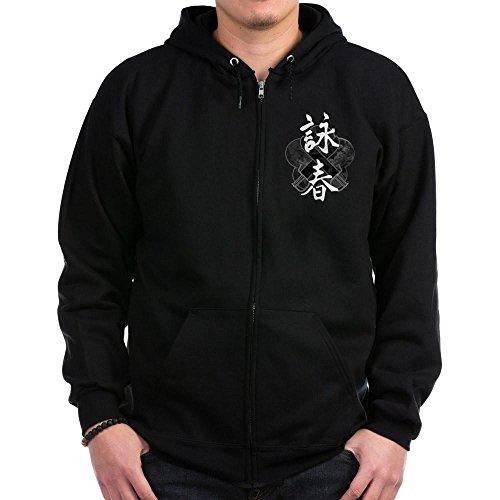 CafePress - Wing Chun Zip Hoodie (Dark) - Zip Hoodie, Classic Hooded Sweatshirt with Metal Zipper Wing Chun Mens Hoodie