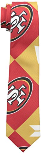 Forever Collectibles NFL Patches Ugly Christmas Tie-San Francisco 49ers