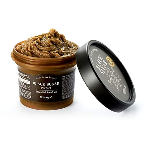 - SKIN FOOD Black Sugar Perfect Essential Scrub 2X 7.4 fl.oz. (210g) - Facial Exfoliating Massage Scrub without Irritation, Removes Blackheads and Dead Skin Cells for Rough Skin, Skin Smooth and Clear