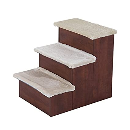 Wonderful Pawhut Three Step Portable Pet Stairs For Cats And Dogs W/ Storage  Compartments
