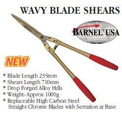 Barnel B1010L 28'' Wavy Serrated Hedge Shears by Barnel