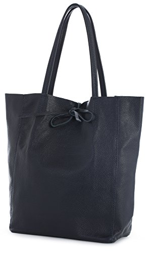 Hobo Genuine Deep Shopper Astrid Tote Shoulder Leightweight Leather Large Handbag Italian LiaTalia Navy Soft Ywqndd6