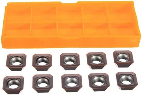 LIZANAN Carbide Inserts 10pcs SEHT1204AFSN-X45 PC9035 SEHT43AFSN-X45 for Steel Processing Cemented Carbide Inserts Carbide Cutters