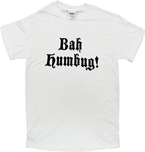Bah Humbug Shirt Scrooge White T Shirt 100% Cotton