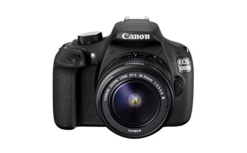 Canon EOS 1200D 18MP Digital SLR Camera  Black  with EF S 18 55mm f/3.5 5.6 is II Lens, 8 GB Card and Carry Bag