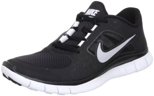 New Nike Free Run + 3 Black/Silver Mens - Black Free 3 Run
