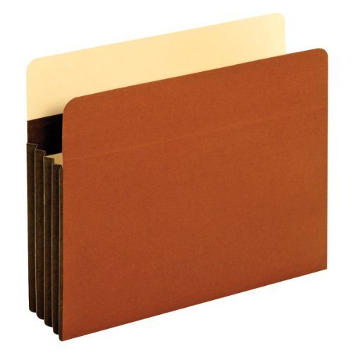 TOPS Globe-Weis Accordion File Pockets, 3.5 Inch Expansion, Letter Size, 25 Pockets Per Box, Brown (C1524EHD) by Globe Weis